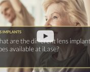 What are the different lens implant types available at iLase Mohammed Muhtaseb Wales