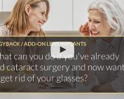 What can you do if you've already had cataract surgery and now want to get rid of your glasses iLase Mohammed Muhtaseb Wales Cardiff