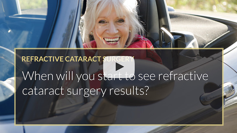 When will you start to see refractive cataract surgery results iLase Wales Cardiff Mohammed Muhtaseb
