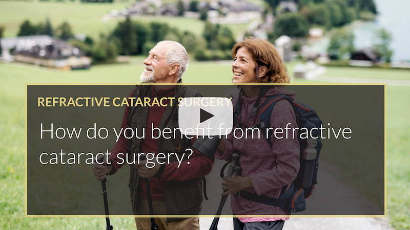 How do you benefit from refractive cataract surgery ilase uk wales mohammed muhtaseb