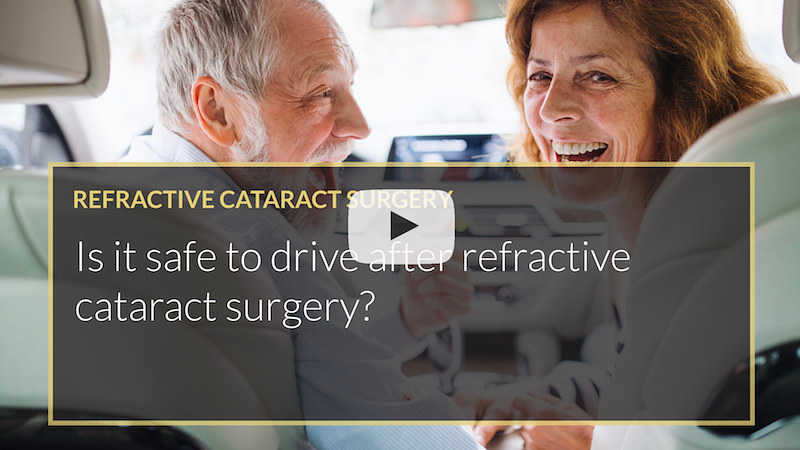 Is it safe to drive after refractive cataract surgery iLase Mohammed Muhtaseb Wales