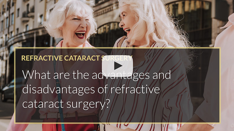 What are the advantages and disadvantages of refractive cataract surgery mohammed muhtaseb iLase UK